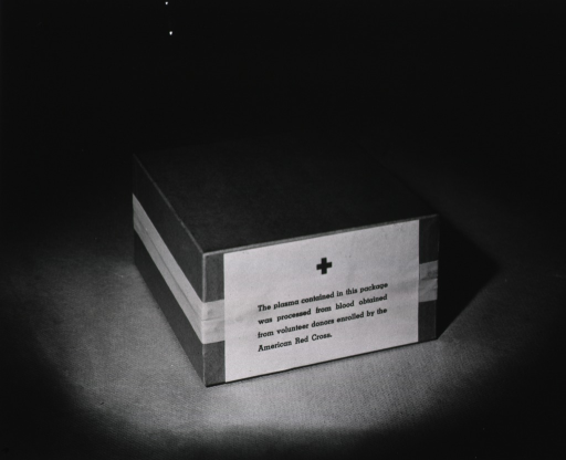 <p>A taped box is shown.  On the side facing the camera, a label is printed with the picture caption.</p>