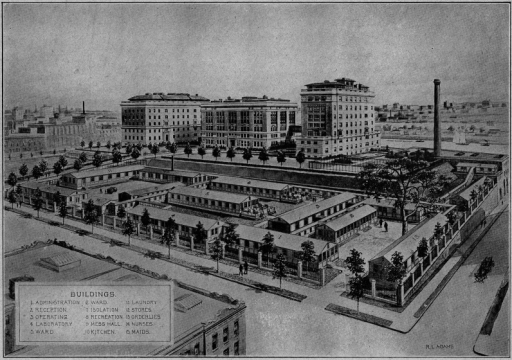The War Demonstration Hospital in New York City. Picture courtesy of the RockefellerArchive Center, Rockefeller University Collection, Record Group 1, Series 600-2 'TheWar Demonstration Hospital', Box 15, Folder 10.