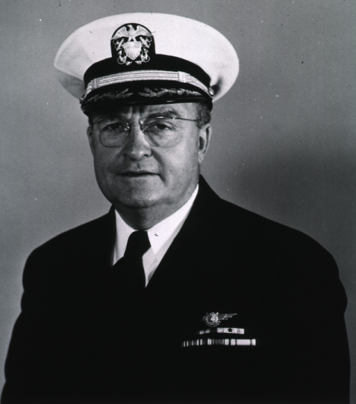 <p>Head and shoulders, full face, wearing uniform and cap (Captain).</p>
