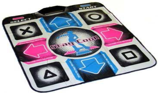 The Dance Dance Revolution Mat (http://www.iddr.co.il) used for reaction time measurement.