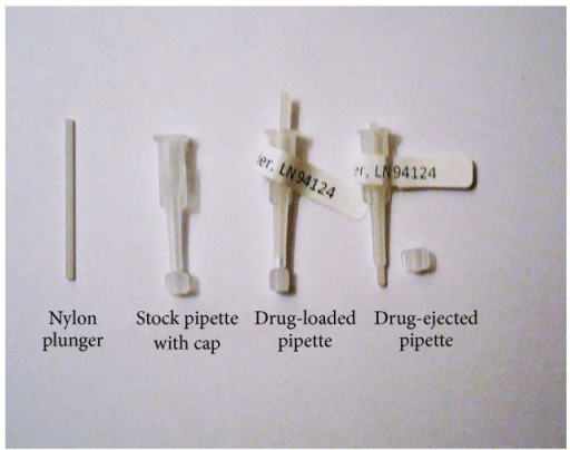 Pipets for drug powder delivery.