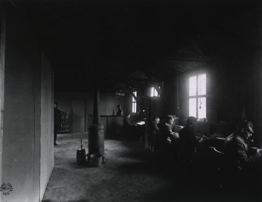 <p>Records office at U.S. Army Camp Hospital no. 11, St. Nazaire, France during World War I.</p>