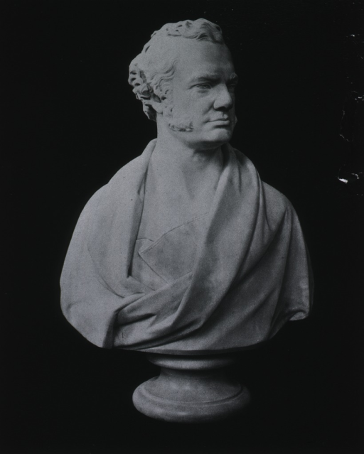 <p>Marble bust, in Guy's hospital, London.</p>