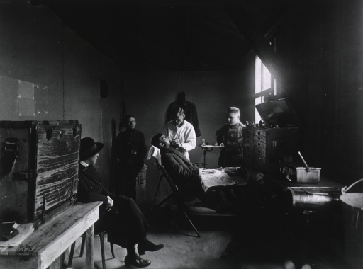 <p>Dental office at U.S. Army Camp Hospital no. 11, St. Nazaire, France during World War I.</p>
