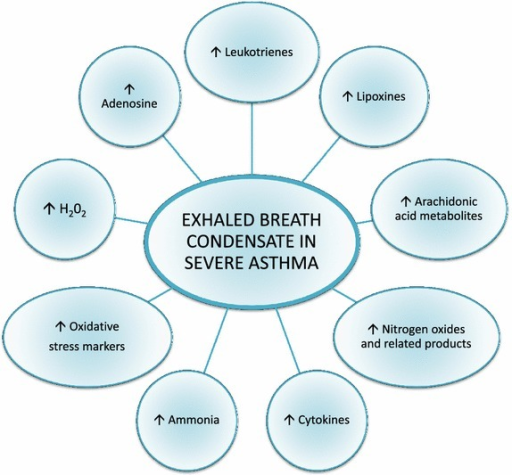 Changes in exhaled breath condensate mediators values in severe asthma.