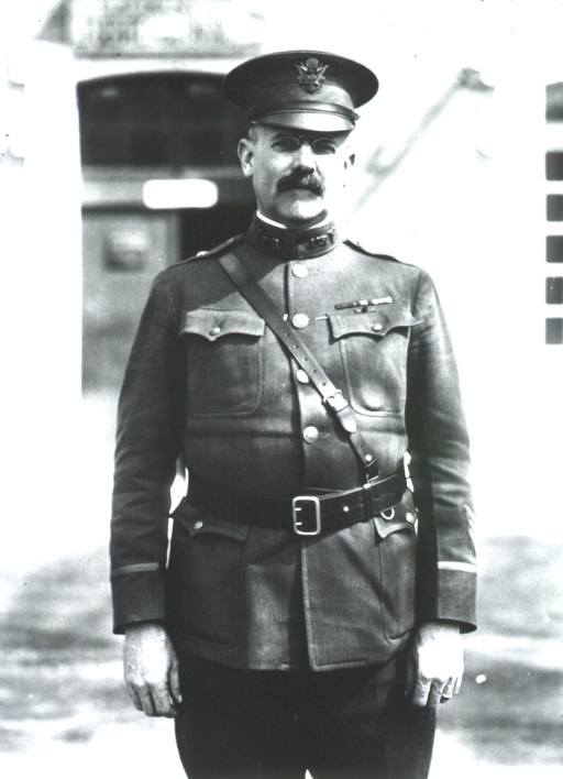 <p>Three-quarter length, front pose, standing, full face; wearing uniform and cap.</p>