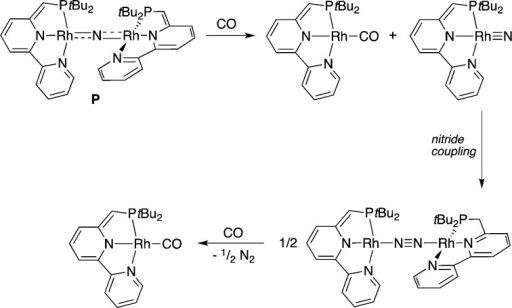 Proposed Mechanism for the Reactionof Bridging Nitride L with CO34