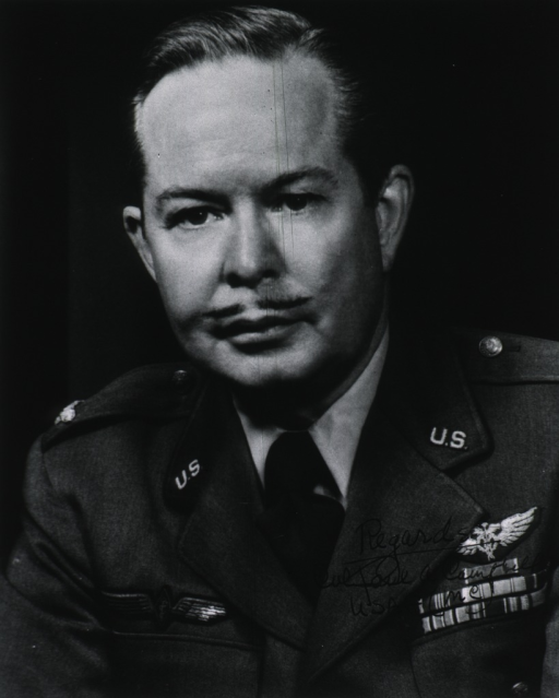 <p>Head and shoulders, full face, wearing uniform (Air Force Medical Officer, Colonel).</p>