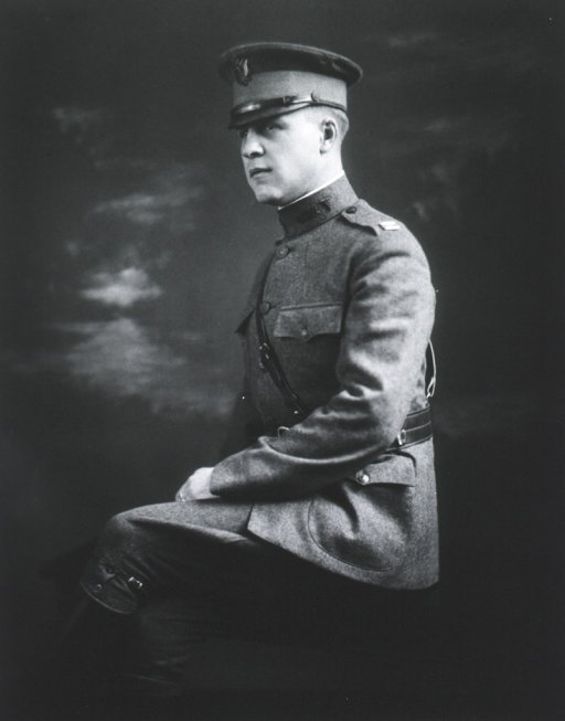 <p>Seated, three quarter length, left pose in uniform of Major.</p>