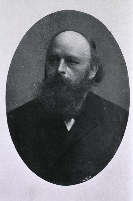 <p>Head and shoulders, full face, heavy beard.</p>