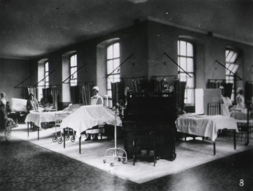 <p>An Accident Ward [for men].  Interior.</p>