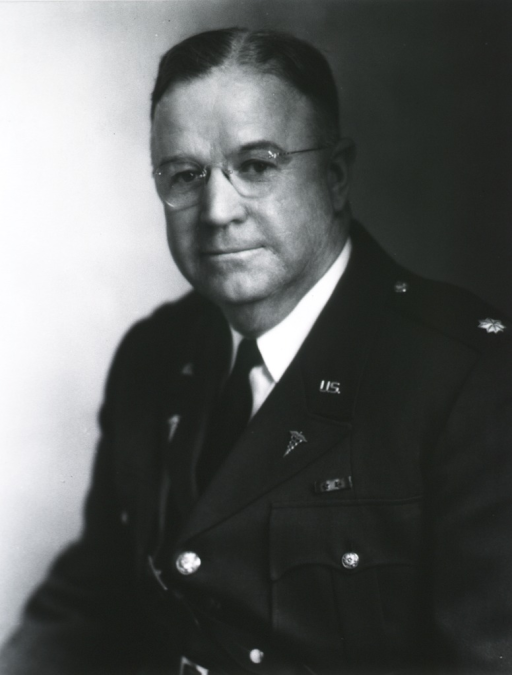 <p>Head and shoulders, left pose, full face; wearing uniform (Lieut. Colonel), and glasses.</p>