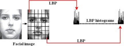 The process of LBP features extraction