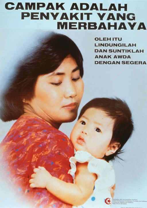 <p>Multicolor poster with black lettering.  Title at top of poster.  Visual image is a color photo reproduction of a mother holding her baby.  Caption below title deals with the concept of protecting a child.  Publisher information in lower right corner.</p>