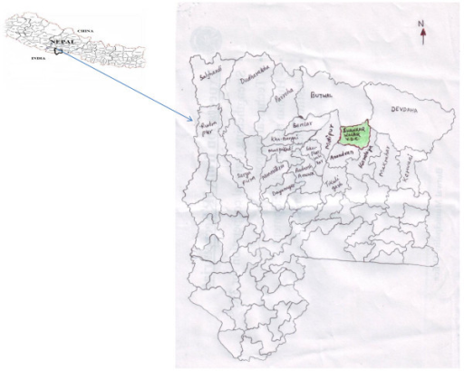 Location map of study site.