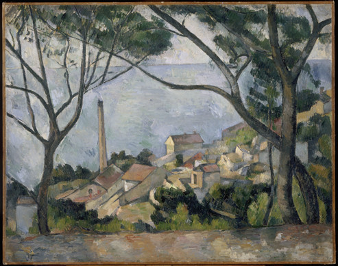 Beyond qualitative imaging. In Paul Cézanne's 'La mer à l'Estaque', trees can easily be recognized in the foreground. Nevertheless, a closer look reveals that the dimensions and geometry of the branches are not realistic at all, illustrating the relative weakness of the human eye and how a qualitative observation can lead to misleading conclusions. Reproduced with permission from Réunion des Musées Nationaux, Paris, France.