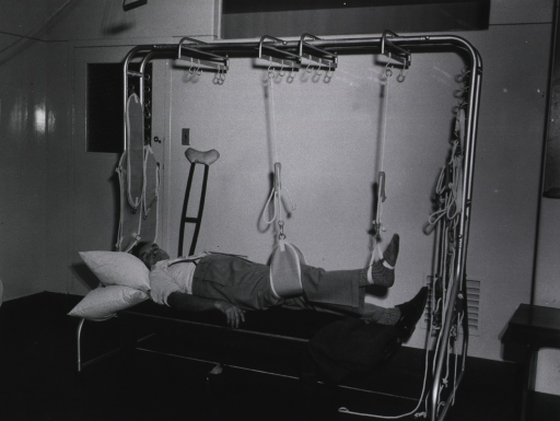 <p>Royal Perth Hospital.  View of Guthrie-Smith Suspension apparatus.</p>