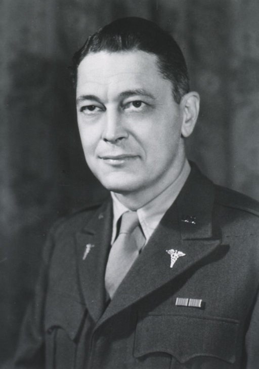 <p>Head and shoulders, full face; in uniform, M.C.</p>