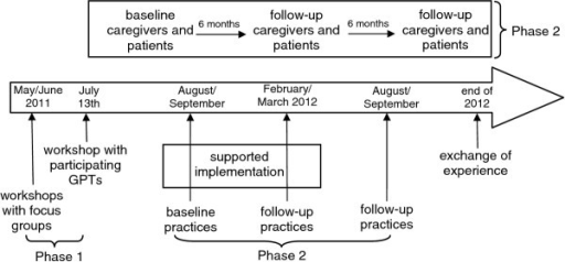 Timeline of the PalliPA study.
