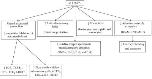 Effects of ω-3 polyunsaturated fatty acids in ARDS.