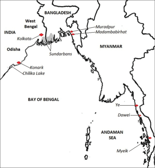 Map of localities mentioned in the text.