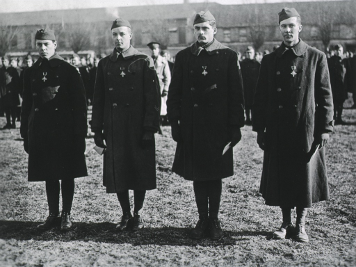 <p>All:  full length, full face; wearing uniform coats and caps; with Distinguished Service Cross.</p>