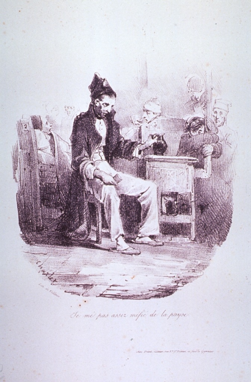 <p>A disheveled man is sitting on a chair in a crowded hospital ward.</p>