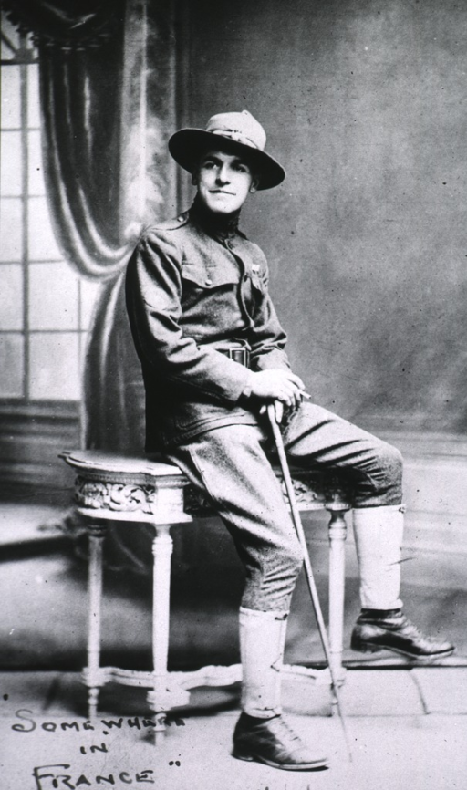 <p>Seated, full length, right pose.  In uniform with hat.</p>