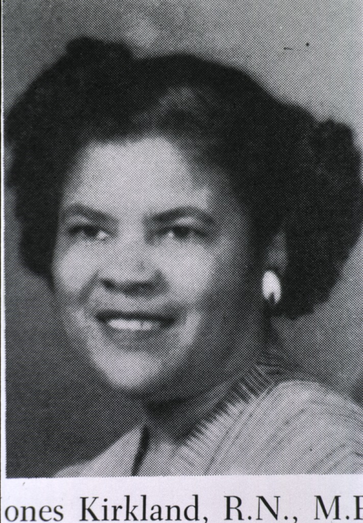 <p>Head and shoulders, left pose; an African American registered nurse.</p>