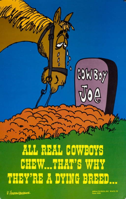 <p>Multicolored poster with white and yellow lettering. Visual image is an illustration of a horse crying over the grave of a cowboy. The name &quot;Cowboy Joe&quot; appears on the tombstone. Title at bottom of poster. Artist signature in lower left corner. Publisher information in lower right corner.</p>