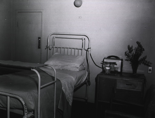 <p>Royal Perth Hospital.  A room in the private wing for patients.</p>