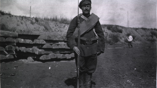 <p>A front view of a Russian soldier's uniform.</p>