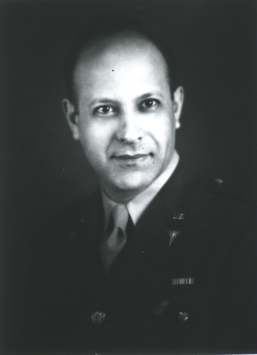 <p>Head and shoulders, left pose, full face; wearing uniform (Major).</p>