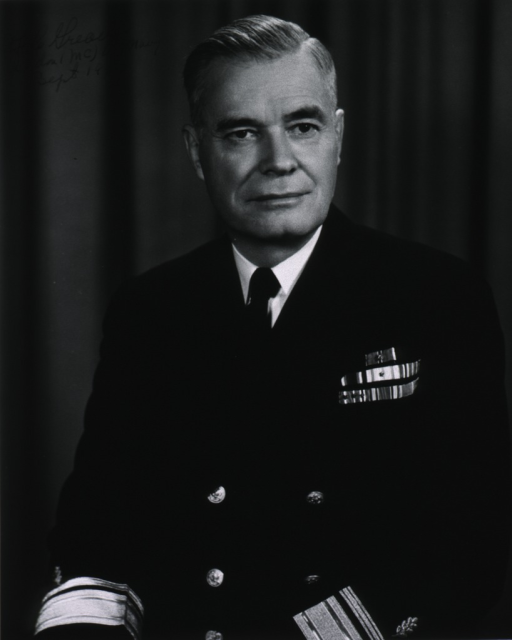 <p>Half-length, full face; wearing uniform (Rear Admiral).</p>