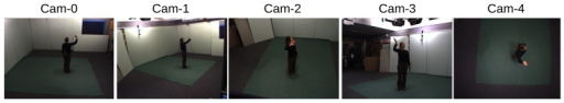 An example of all the camera views in the original IXMAS dataset.