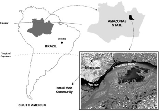 Geographic localization of the Ismail Aziz Community in an endemic area for malaria in Manaus, Amazonas State, Brazil.