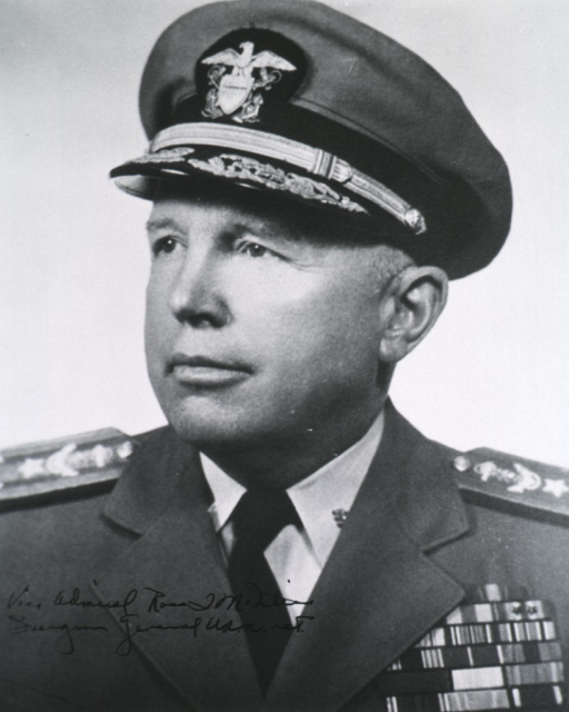 <p>Head and shoulders, left face, uniform, vice-admiral, wearing cap.</p>