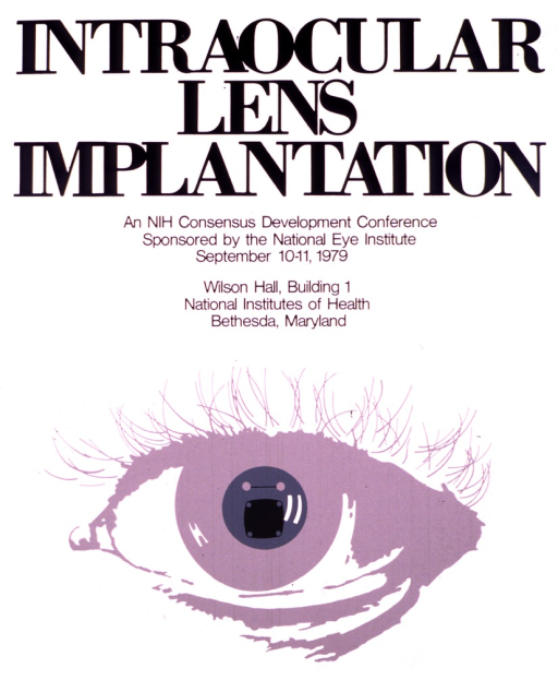 <p>White poster with an eye comprising the entire lower half.  The dates and location of the lectures are given.</p>