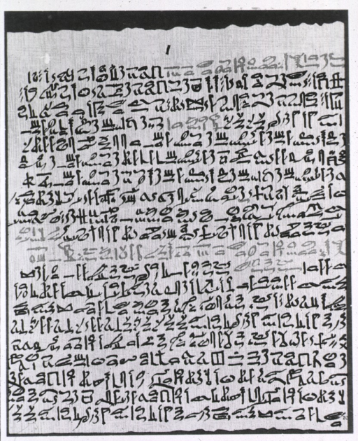 <p>The Ebers Papyrus, dating back from about 1500 B.C. is one of the earliest surviving documents from Egypt.</p>