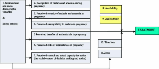 The Malaria in Pregnancy Treatment Model: Relevant Factors for Treatment-Seeking Behaviour for Malaria in Pregnant Women