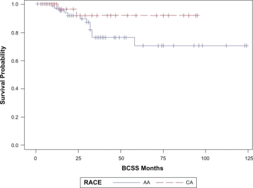 BCSS by race, P = 0.13.
