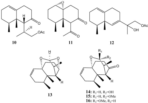 The Structures Of Nardosinane Type Sesquiterpenoids 10
