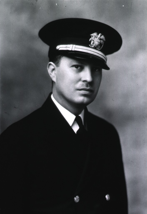 <p>Bust, full face, body to right, wearing USPHS cap with insignia.</p>