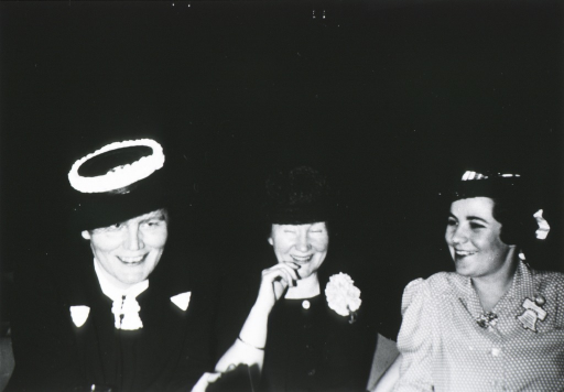 <p>Head and shoulders of all three women.</p>