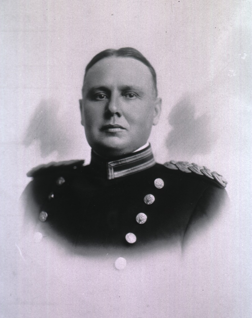 <p>Head and shoulders, front pose, wearing uniform.</p>