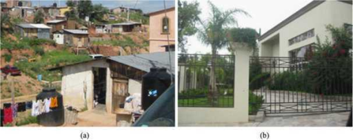 Photographs of houses in (a) Colosio and (b) Fatima