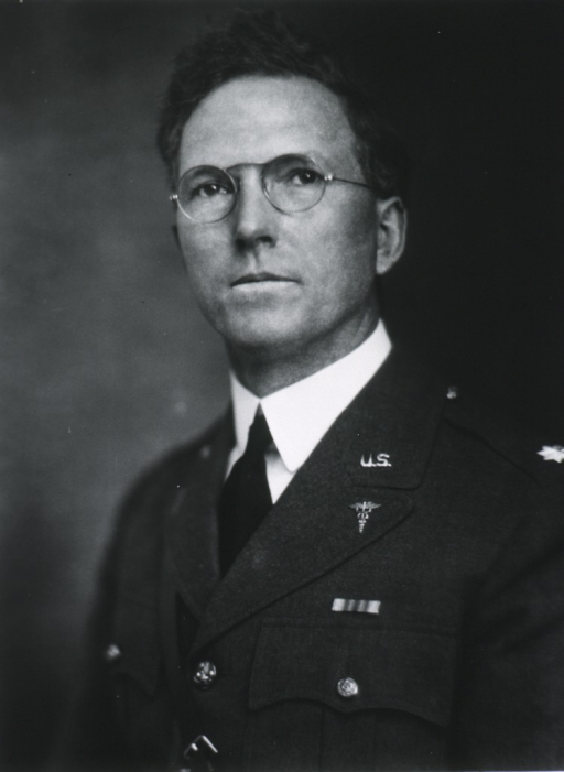 <p>Head and shoulders, left pose, full face; wearing uniform (Lieut. Colonel) and glasses.</p>