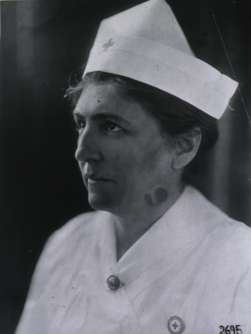 <p>Bust, full face, uniform of nurse.</p>