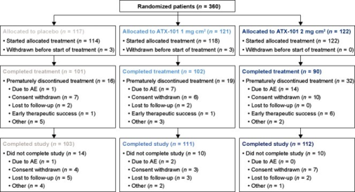 Schematic disposition of randomized patients into different treatment groups. AE, adverse event.