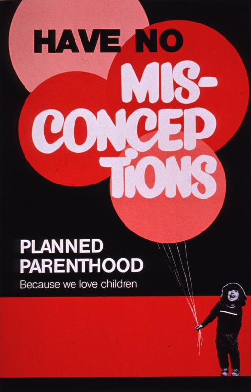 <p>Predominantly red and black poster with black and white lettering.  Title in upper portion of poster, superimposed against red and pink circles that symbolize balloons.  Note text below.  A b&amp;w photo reproduction featuring a young girl appears in the lower right corner.  She holds several strings that lead to the balloons.  Publisher information at bottom of poster.</p>